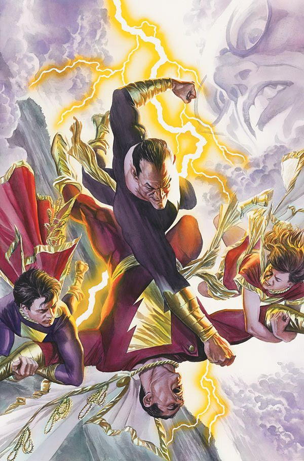 Black Adam, Captain Marvel Jr., and Mary Marvel vs ...