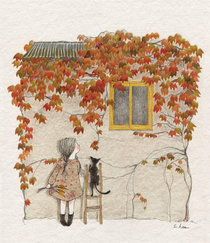 """초록담쟁이 (Green Ivy), """"그 집앞 . . ."""""""