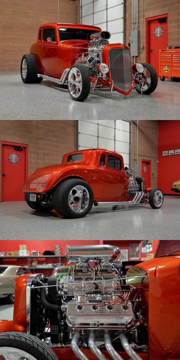 Cool Cool cars 2019 Blown Hemi 1934 Plymouth 5 Window Coupe hot rod...