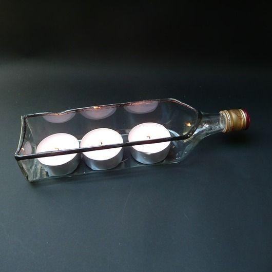 Gift funny. Eco-candlestick. Not only for lovers of Johnnie Walker ;). // Prezent zabawny. Eko-świecznik. Nie tylko dla miłośnikó Johnnie Walkera :)