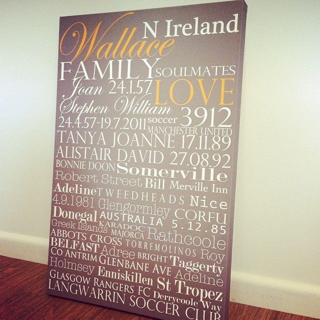 20x30Inch Family memories canvas created by memoriesonwalls.com