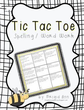 tic tac toe template for teachers - 61 best images about spelling on pinterest walking with