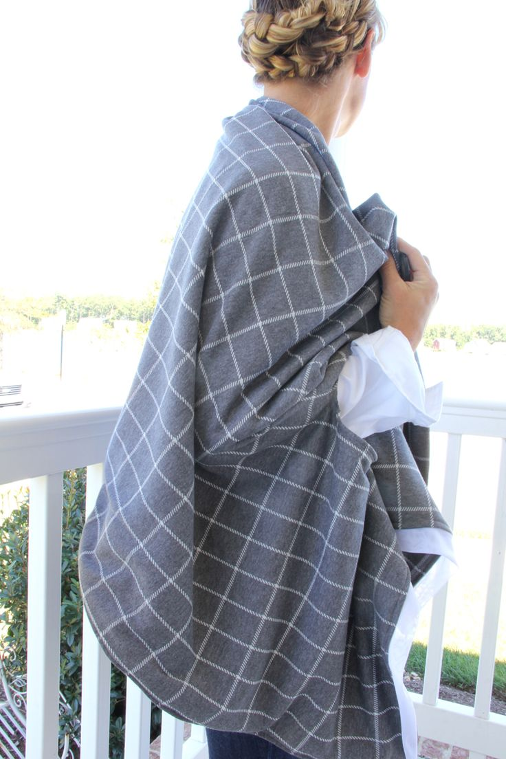 Cape Scarf Diy Plaid Flannel Grey And Inspiration