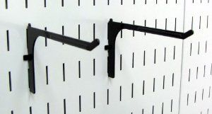 Wall Control Pegboard 6in Reach Extended Slotted Hook Pair - Slotted Metal Pegboard Hooks for Wall Control Pegboard and Slotted Tool Board - Black by Wall Control. $6.49. The Wall Control Pegboard 6in Reach Extended Slotted Hook for Wall Control's Pegboard and Slotted Tool Board is great for garage tool storage and organization and is a great pegboard hook for hanging many items such as extension cords, air hoses, garden hoses, rope, small ladders, spools, tape rolls, ...