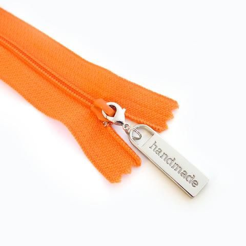 "Emmaline Zipper Metal Pulls: ""Handmade"" in 2 colours"
