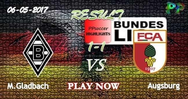 Borussia M.Gladbach 1 - 1 Augsburg HIGHLIGHTS