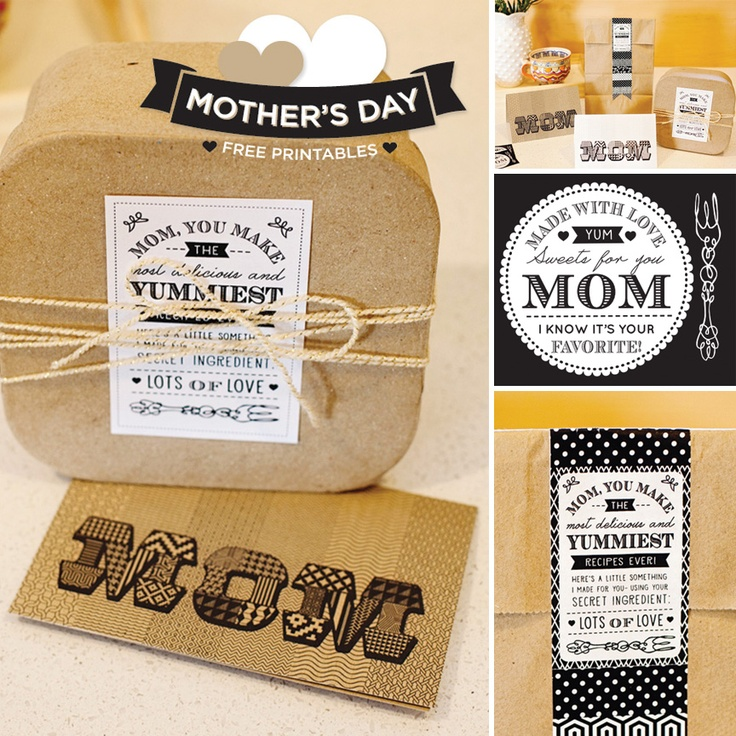 Free Mother's Day Printables! (Mom Card & Treat Tags)