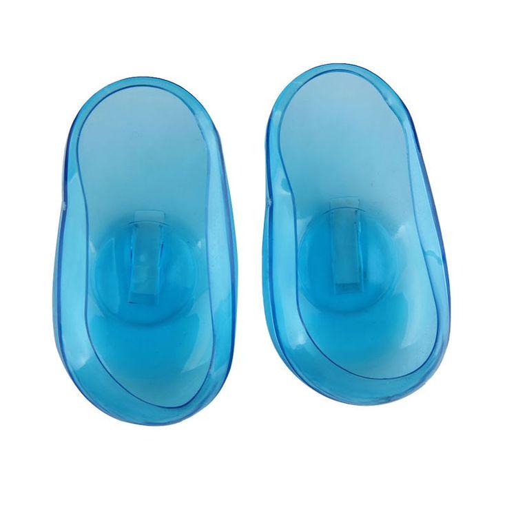 1 par Dye Hair Salon bleu clair Silicone Ear Cover Shield barbier Anti coloration cache-oreilles protéger oreilles de la Dye # BSEL