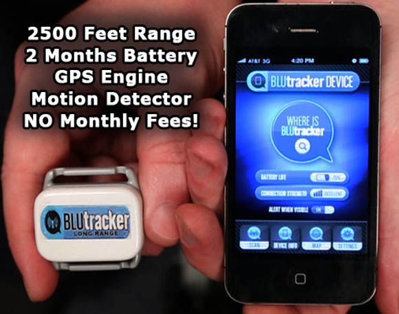 A clever device that lets you find your stuff - equipment, bikes, cars or even kids within a half mile radius using GPS outdoors and a radio beacon indoors - all without monthly fees.