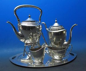 Vintage Pairpoint Sheffield Silver Plate 6 Pc Tea/Coffee Service Set Tray   yqz in Antiques, Silver, Silverplate, Tea/Coffee Pots & Sets | eBay