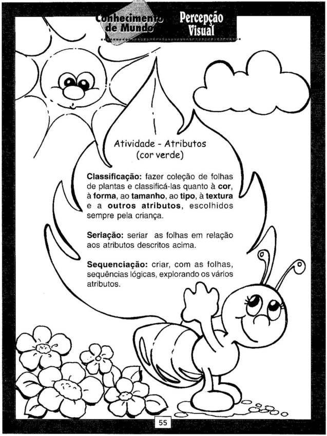 Alegria De Aprender Na Educacao Infantil Atividades De Percepcao