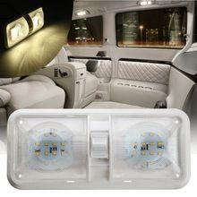 Dupla Luz Cúpula 12 V 48 LED Telhado Teto Interior Leitura Para RV Barco Para Reboque de Campista Plástico 1 PC branco(China (Mainland))