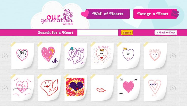 Have you designed your heart for our new wall of hearts yet? It's so much fun! Go on, spread the love!