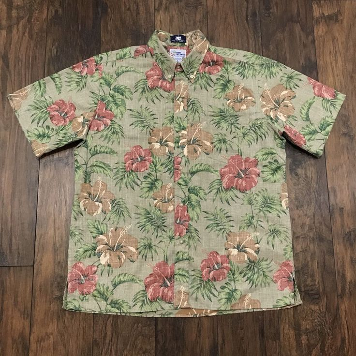J.Press Reyn Spooner Hibiscus Hawaiian Print Button Down Aloha Shirt Mens Large #ReynSpooner #jpress #menswear #tiki #aloha #alohashirt #hawaiian #hawaiianshirt #mensclothing #mensfashion