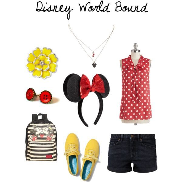 DWB - A comfortable Disney World outfit inspired by Minnie Mouse