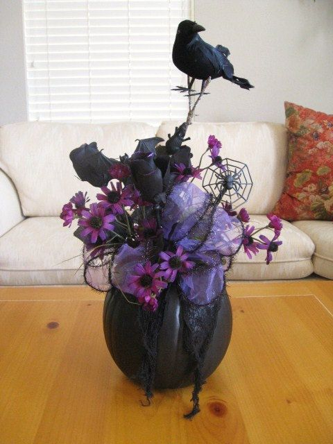 halloween floral arrangements | to halloween fall floral arrangement in ceramic pumpkin on etsy