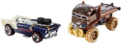 Hot Wheels Star Wars Character Car 2-Pack, Han Solo And Chewbacca, 2015 Amazon Top Rated Die-Cast Vehicles #Toy