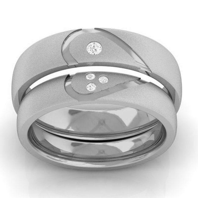 Cincin Kawin Sepasang Rafidah Perak Lapis Rhodium | Cincin Kawin Jogja