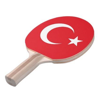 Ping pong paddle with Flag of Turkey - elegant gifts gift ideas custom presents
