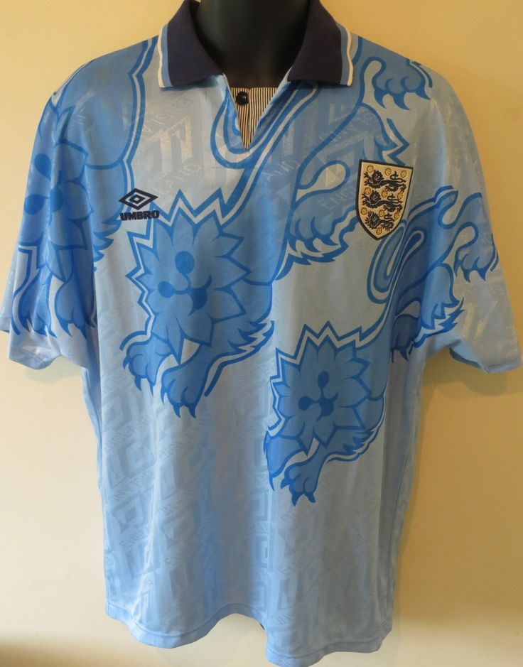 Rare classic 1993-95 England 3rd shirt (only worn twice by England)