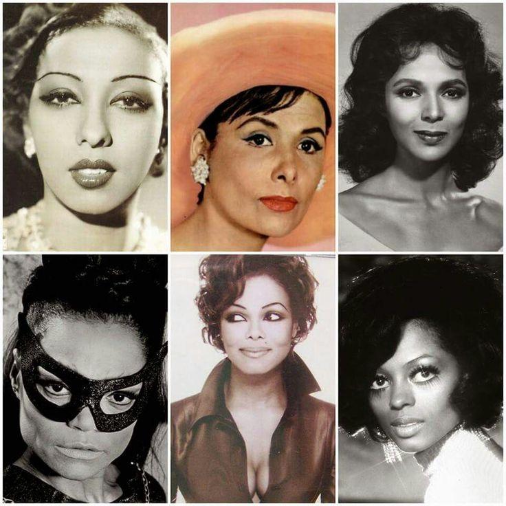 Josephine B , Lena Horne , Dorothy Dandridge , Eartha Kitt , Janet Jackson and Diana Ross