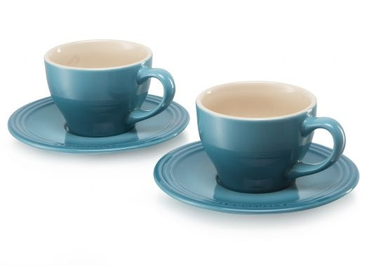 Le Creuset Cappuccino Cup and Saucer, Set of 2