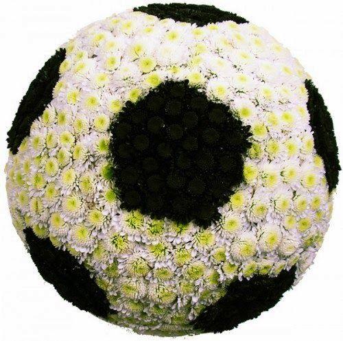 цветочный футбольный мяч
