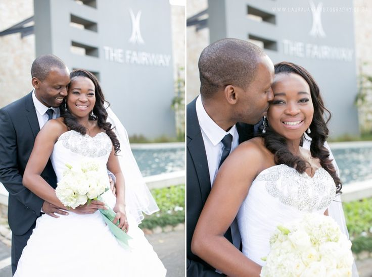 The Fairway Hotel & Golf Resort Wedding – Bongani and Gugu.  Photographs by the talented  Laura Jane Photography. #weddingvenue #HitchedAtGuvon #wedding