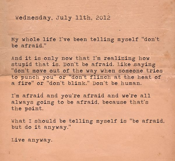 live anyway