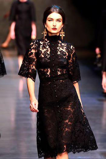 Платья модели с показов мод