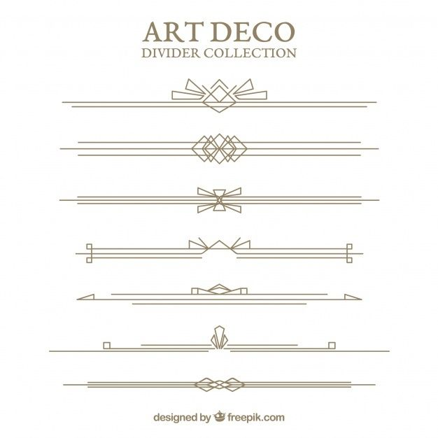Download Dividers Collection In Art Deco Style For Free In 2020 Art Deco Art Deco Fashion Art