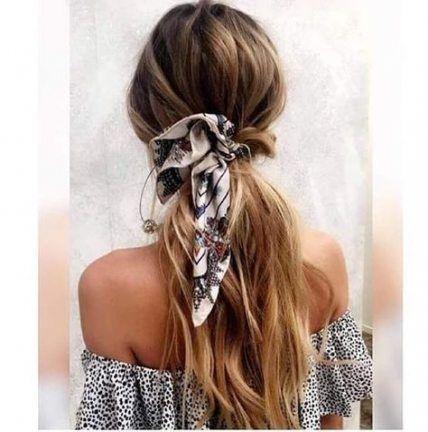 Wie man einen Schal in Haarknoten verwendet 30 Ideen