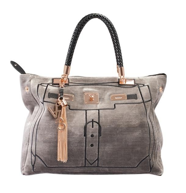 V73 Velvet Bag Gris http://www.v73.us/luxury-velvet/130-velvet-bag-dk-gris #v73 #bag #velvet #grey