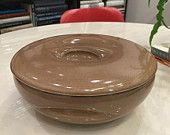 Russel Wright Iroquois Casual Covered Casserole Dish Nutmeg Brown