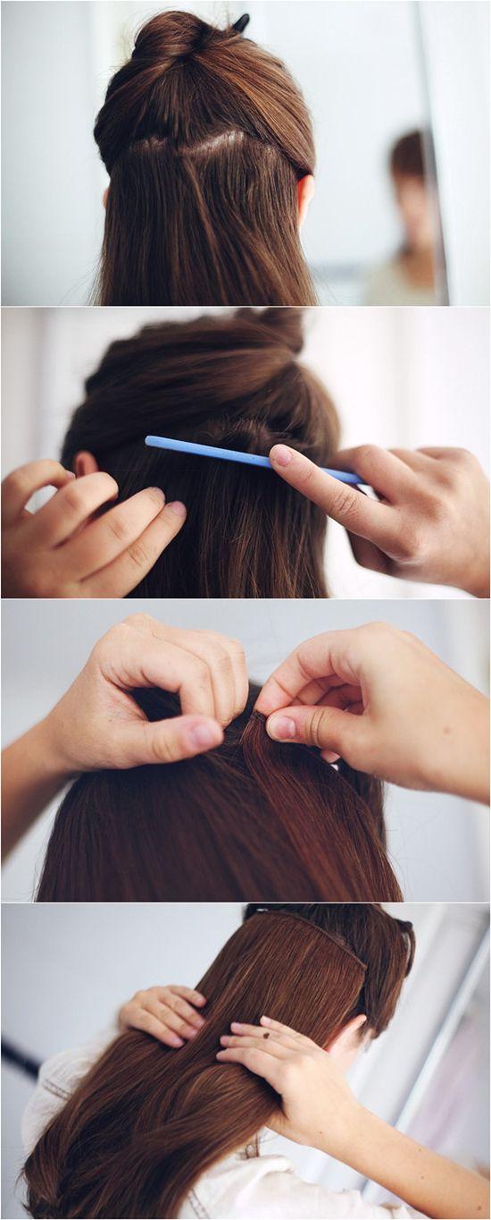 trending hair extensions tutorial