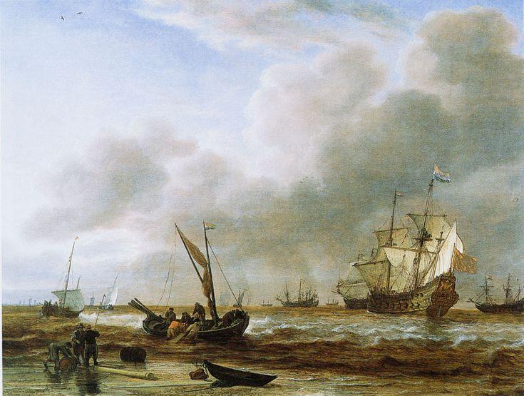 Simon de Vlieger - Fregat Amsterdam voor Den Helder (1650)