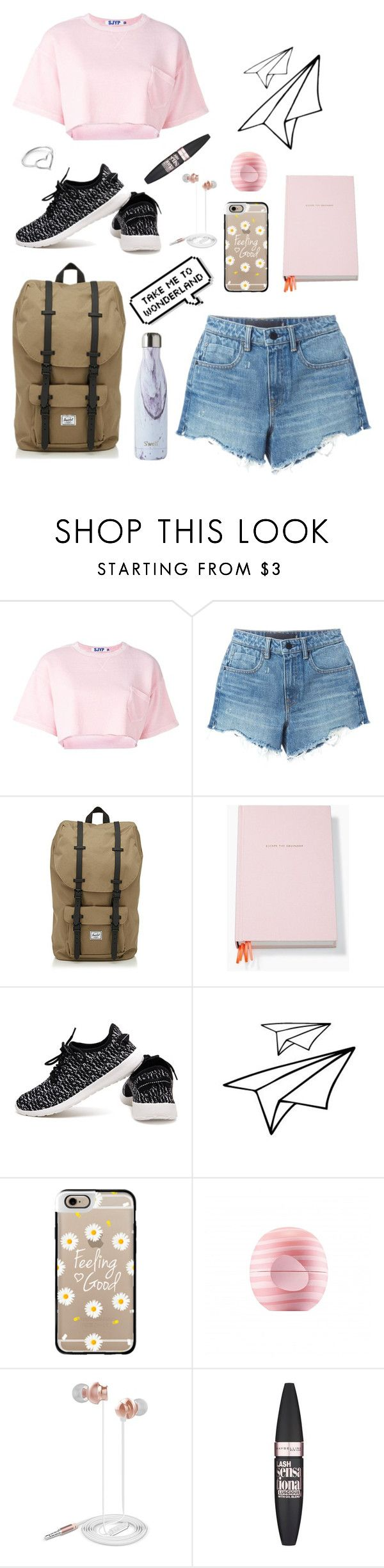 """""""Pink Wonderland💕"""" by kylieirwin11 ❤ liked on Polyvore featuring Steve J & Yoni P, Alexander Wang, Herschel, Kate Spade, Casetify, Eos, Nicole Miller, Maybelline and Jordan Askill"""