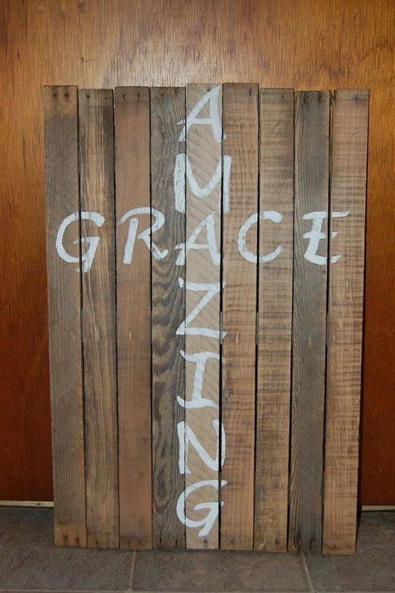 Hey, I found this really awesome Etsy listing at http://www.etsy.com/listing/171578179/amazing-grace-cross-pallet-wood-sign