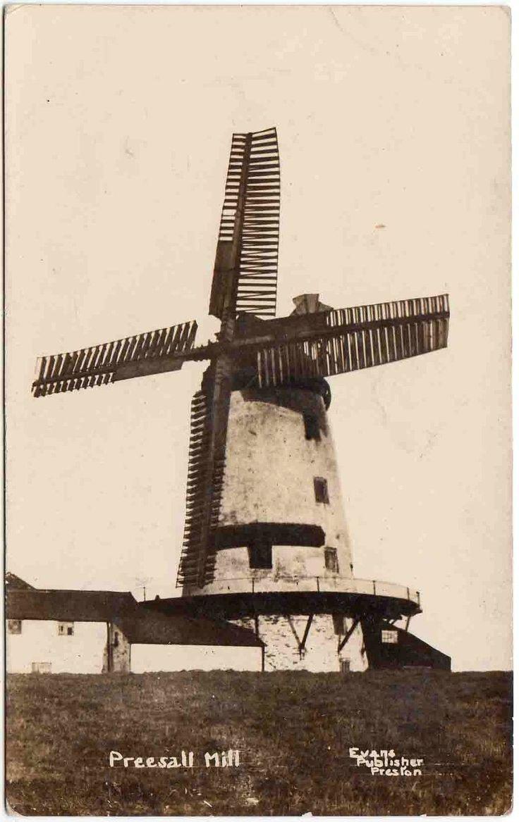ANTIQUE FINE REAL PHOTO POSTCARD . PREESALL WINDMILL . LANCASHIRE . P/U 1919 | eBay