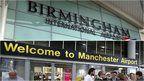 Birmingham & Manchester airport entrance
