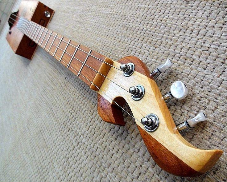 Unique 3 string acoustic Electric fretted cigar box guitar by Muddy BluesBox USA