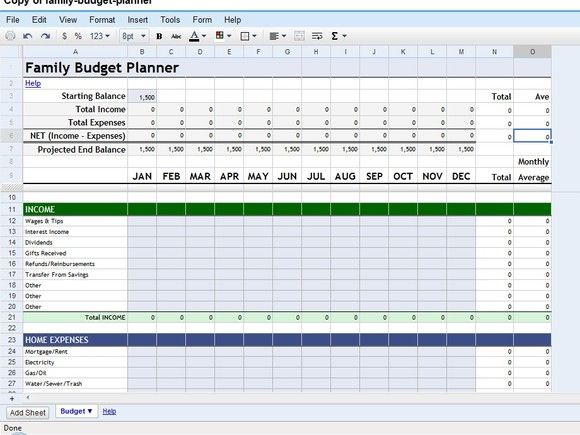 11 best Budgets images on Pinterest Households, Budget planner and - google spreadsheet templates free