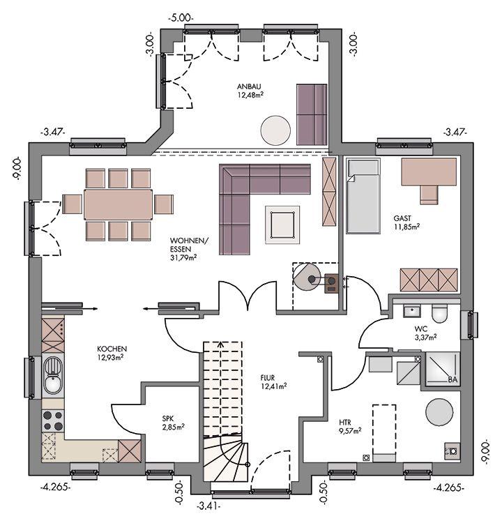 Massivhaus grundriss  Massivhaus-Friesenhaus-Grundriss-Erdgeschoss.jpg 720×750 Pixel ...