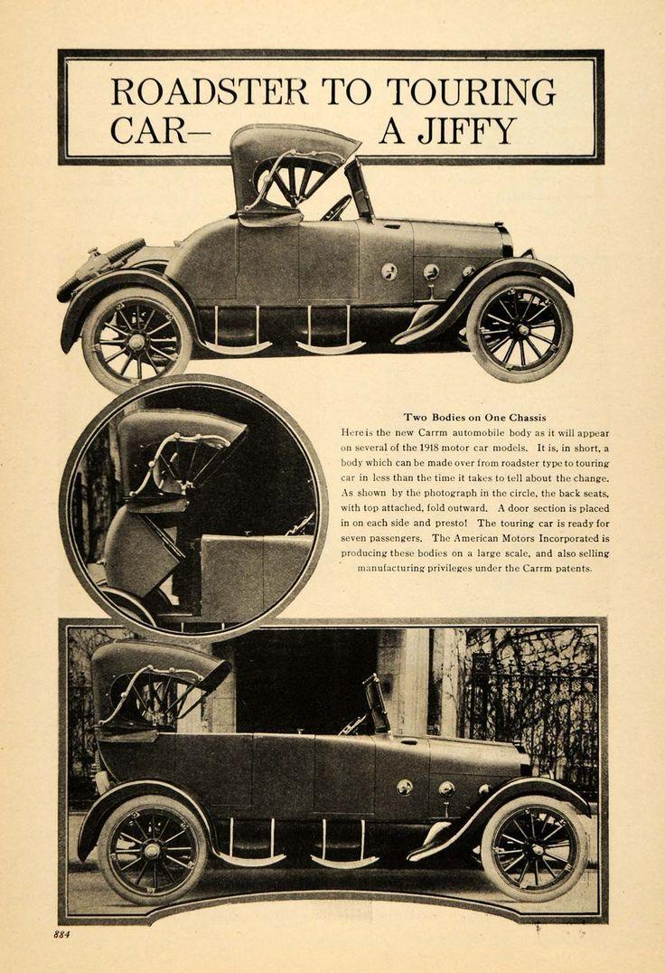 1917 Print American Motors Carrm Roadster Touring Car - ORIGINAL HISTORIC ILW2