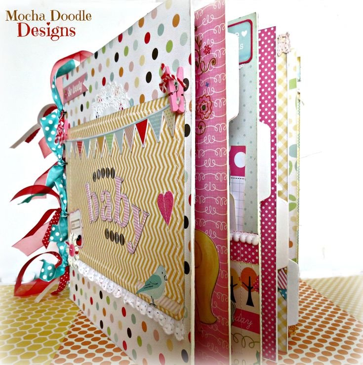 Baby Girl Chipboard album - Scrapbook.com