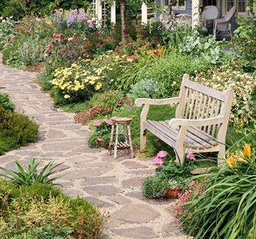Nice path and planting