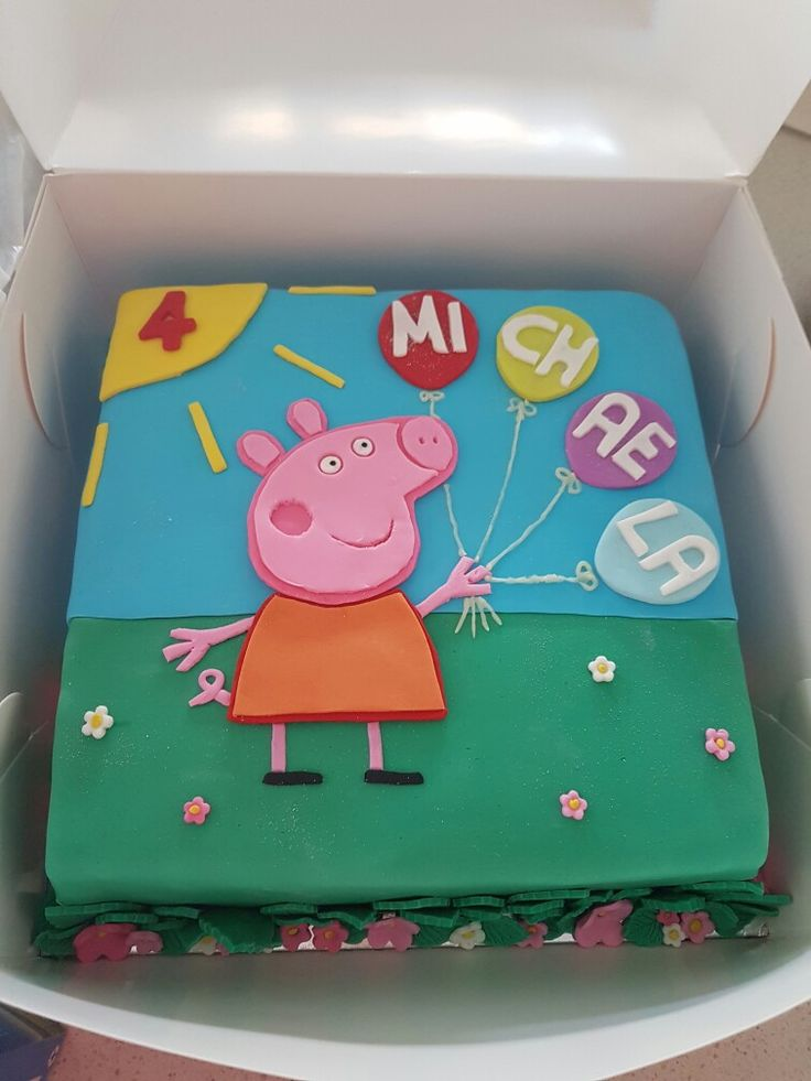My daughter's Peppa Pig Cake that i made...