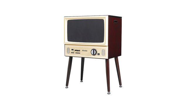 モチーフは1970年代、中身は現代。ドウシシャのダイヤル方式ブラウン管テレビ