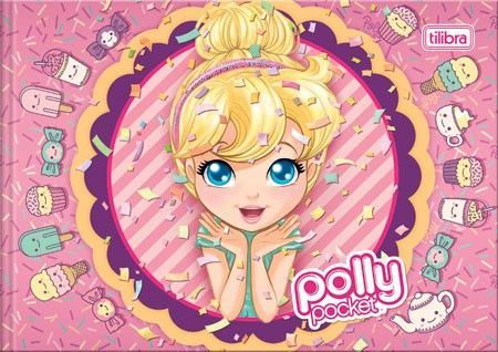 Caderno Pedagógico Brochura Capa Dura Desenho Polly Pocket 40fls