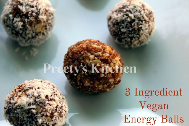 3 Ingredient Vegan Energy Balls ( No Bake Recipe)